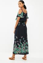 Revenge - Cold shoulder maxi dress - blue