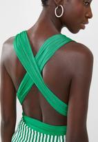 Sissy Boy - Multi wrap bodysuit - green