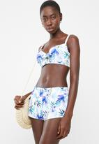 Sun Love - Hibiscus dream shorts - white
