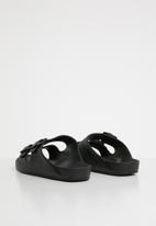 Cotton On - Twin strap slide - black