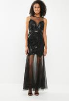 STYLE REPUBLIC - Maxi sequinned dress - black