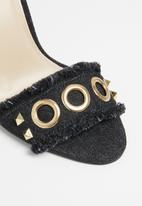 Miss Black - Bea open toe heels - black