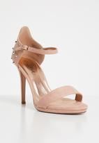 Miss Black - Lannister open toe heels - pink