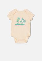 Cotton On - Mini short sleeve bubbysuit -  peach