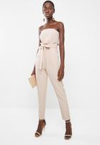 Missguided - Paperbag waist bandeau - neutral