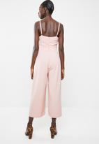Missguided - Wrap front maxi dress - pink