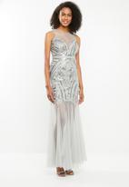 STYLE REPUBLIC - Maxi sequinned dress - grey
