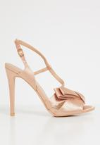 Plum - Canal slingback heels - rose gold