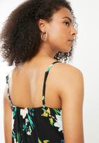 ONLY - Nova lux strap maxi dress - black