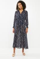 ONLY - Ditte ls calf dress - navy