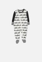 Cotton On - License zip through romper - black & white