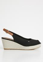 Tommy Hilfiger - Slingback wedges - black