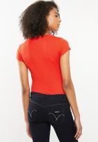 Sissy Boy - Raboa blink one up with cross over detail - coral