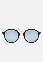 Kapten & Son - Maui mirror glass sunglasses - black & blue