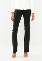 Sissy Boy - Bootleg trouser with a self belt - black