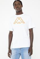 KAPPA - Logo cromen tee - white & orange