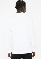 adidas Originals - Court side long sleeve tee - white