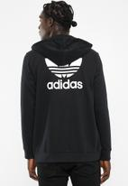 adidas Originals - Mens full zip hood - black & white