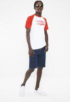 Levi's® - Baseball short sleeve  tee- white & red