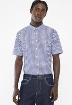 Brave Soul - Feyza short sleeve shirt - navy & white