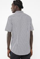 Brave Soul - Feyza short sleeve shirt - black & white