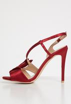 Plum - Canal slingback heels - burgundy