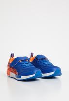 POP CANDY - Printed velcro strap sneaker - blue & orange