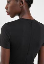 Missguided - Short sleeve unitard - black
