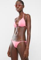 Sun Love - Padded slide bikini top - pink