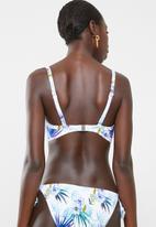 Sun Love - Hibiscus dream underwire padded bikini top - white