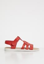 POP CANDY - Studded detail sandal - red