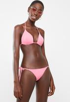 Sun Love - Side tie bikini bottoms - pink