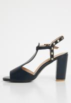 Dolce Vita - Faux leather studded heels - navy