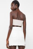 Missguided - Tube top co-ord bralet - neutral