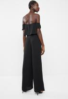 Missguided - Bardot wide leg jumpsuit - black
