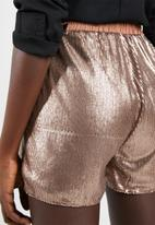 Missguided - Sequin runner shorts - bronze