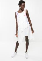 Revenge - Layered multi colour dress- white
