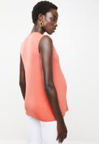 edit Maternity - Wrap tank top - orange