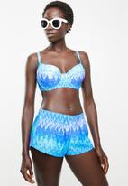 Jacqueline - Zig zag shorts - blue