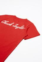 Converse - Script short sleeve tee - red