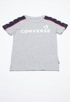 Converse - Short sleeve track tee - grey