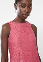Superbalist - High neck lace dress - pink