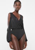 Superbalist - Cold shoulder twofer bodysuit - black