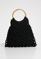Superbalist - Mandy crochet bag - black
