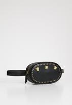 Superbalist - Lion studded waist bag - black