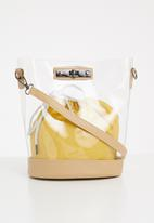 Superbalist - Gina clear tote with pouch - clear/neutral