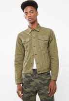 Superbalist - Colour Slim Denim Trucker Jacket - green