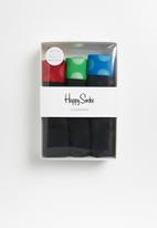 Happy Socks - Contrast trunk 3 pack - black