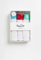 Happy Socks - Contrast trunks 3 pack - white