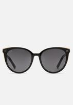 Kapten & Son - Manhattan gloss sunglasses - black & grey